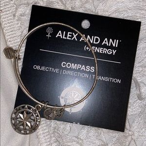 ALEX AND ANI silver compass bracelet